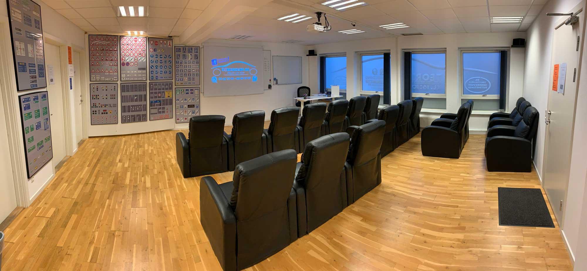 Køreskole Silkeborg - undervisningslokalet